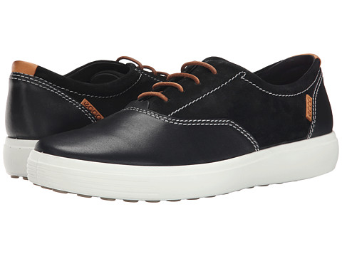 ECCO - Soft VII Tie (Black/Black) Men's Lace up casual Shoes