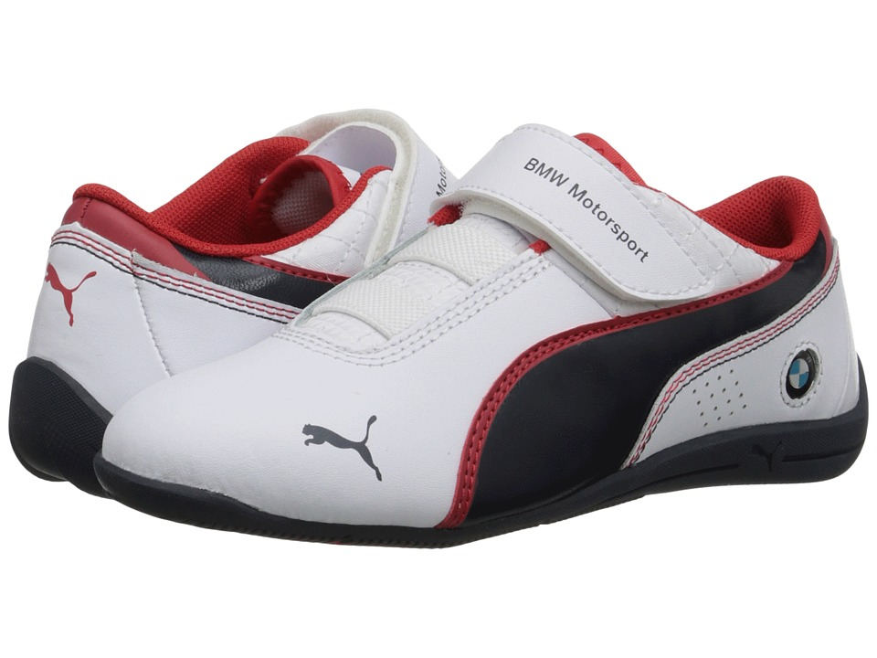 Puma Kids - Drift Cat 6 L BMW (Toddler/Little Kid/Big Kid) (White/BMW Team Blue/High Risk Red) Boys Shoes