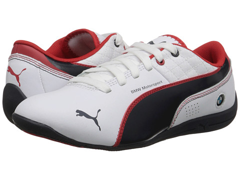 Puma Kids - Drift Cat 6 L BMW (Little Kid/Big Kid) (White/BMW Team Blue/High Risk Red) Boys Shoes