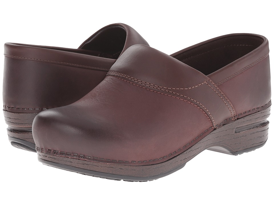 Dansko - Poppy (Bordeaux Burnished Nubuck) Women's Shoes