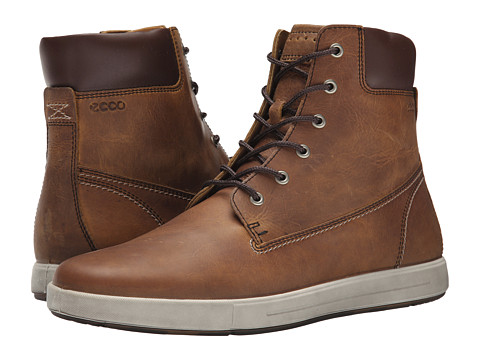 ECCO - Eisner Boot (Amber/Mink) Men's Lace-up Boots