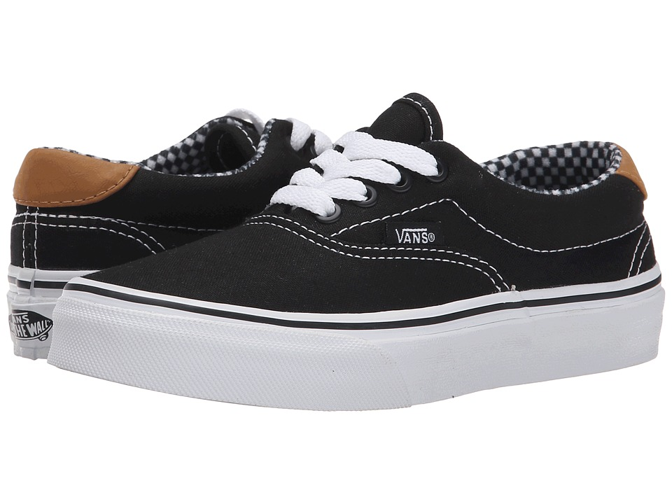Vans Kids - Era 59 (Little Kid/Big Kid) ((6 Oz. Canvas) Black) Boys Shoes