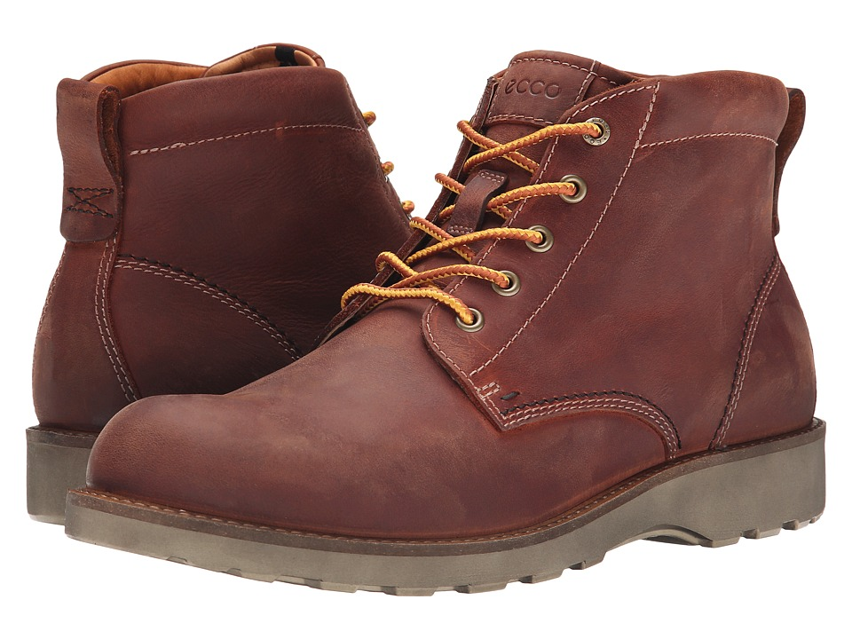 ECCO Holbrok Plain Toe Boot (Cognac) Men