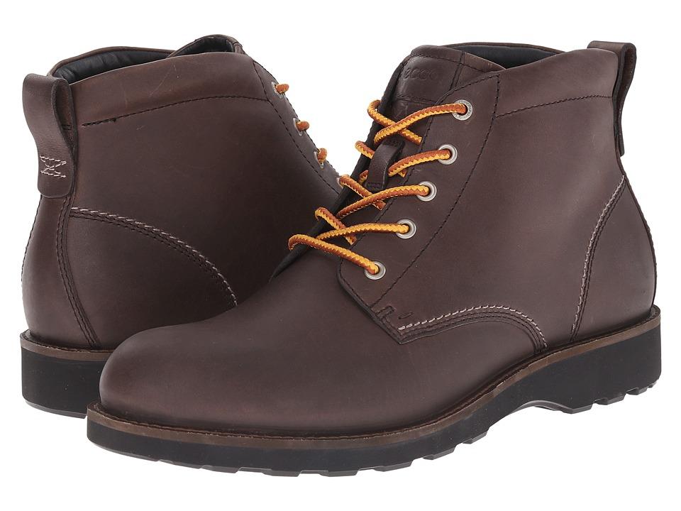 ECCO Holbrok Plain Toe Boot (Dark Clay) Men