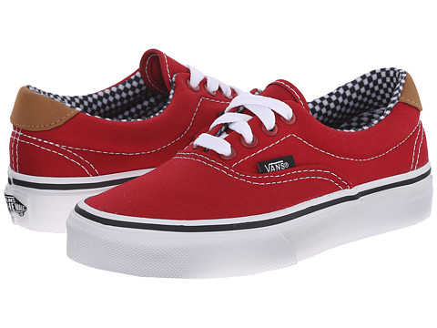 Vans Kids - Era 59 (Little Kid/Big Kid) ((6 Oz. Canvas) Chili Pepper) Boys Shoes