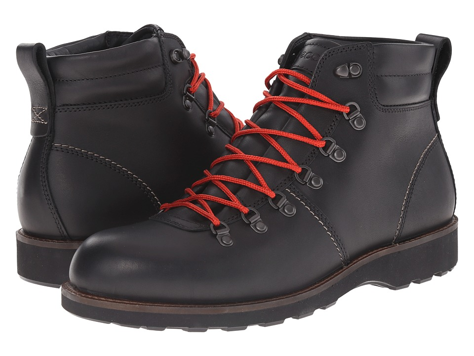 ECCO - Holbrok Rugged Boot (Black) Men's Work Lace-up Boots