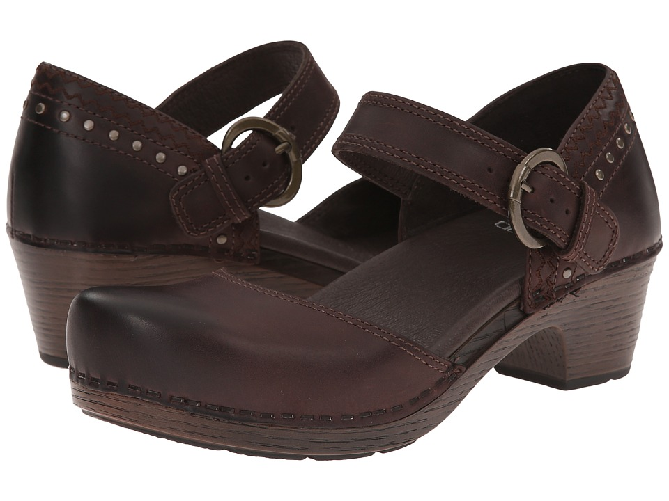 Dansko - Makenna (Brown Full Grain) Women's Clog Shoes