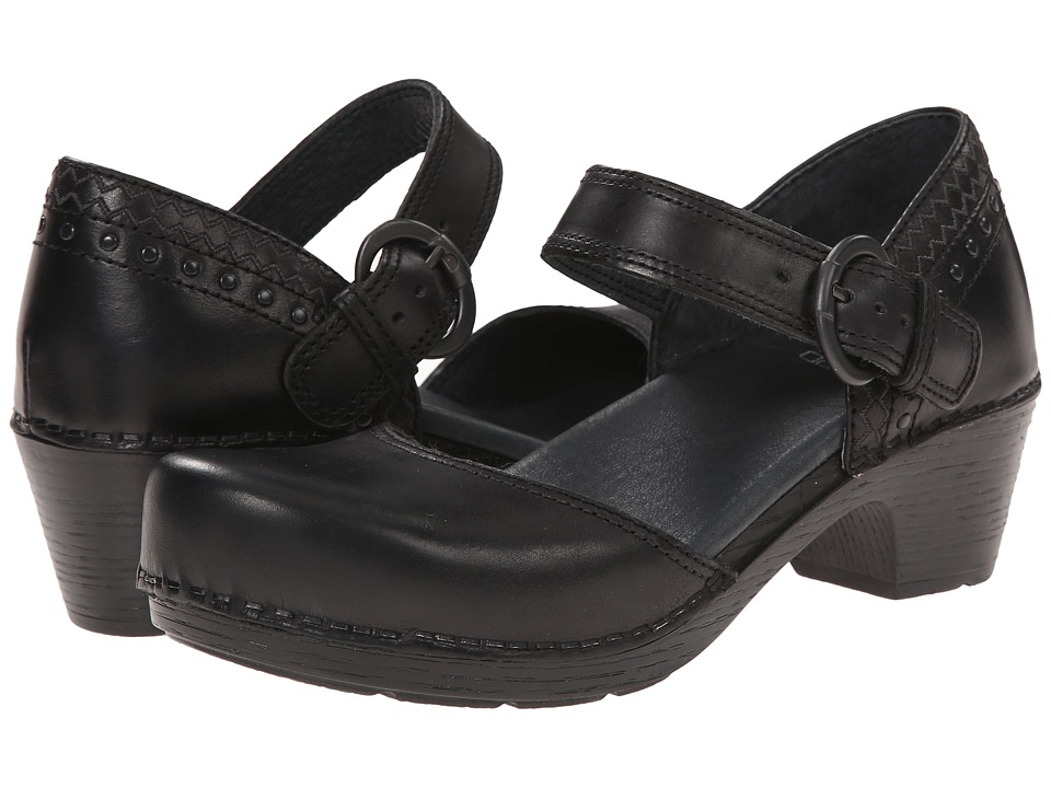 Dansko - Makenna (Black Full Grain) Women's Clog Shoes