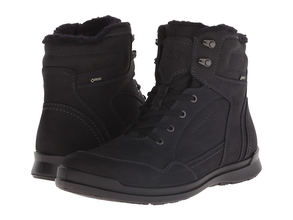 ECCO - Howell GTX Boot (Black) Men's Waterproof Boots
