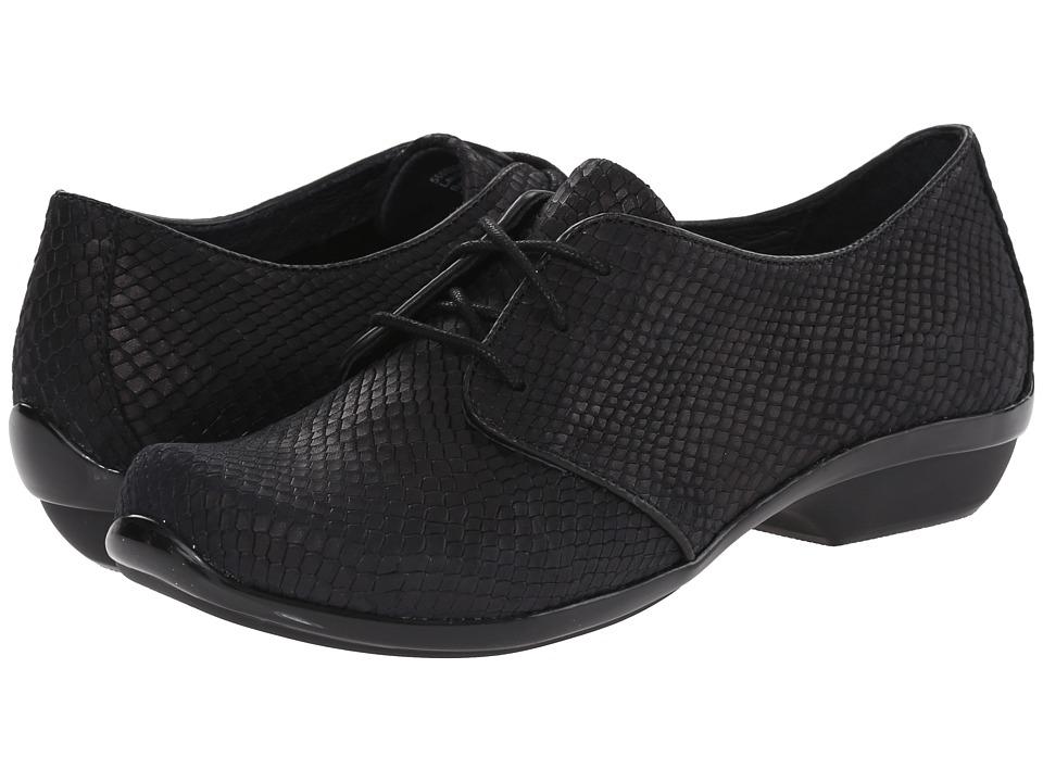 Dansko - Olive (Black Snake) Women's Lace up casual Shoes