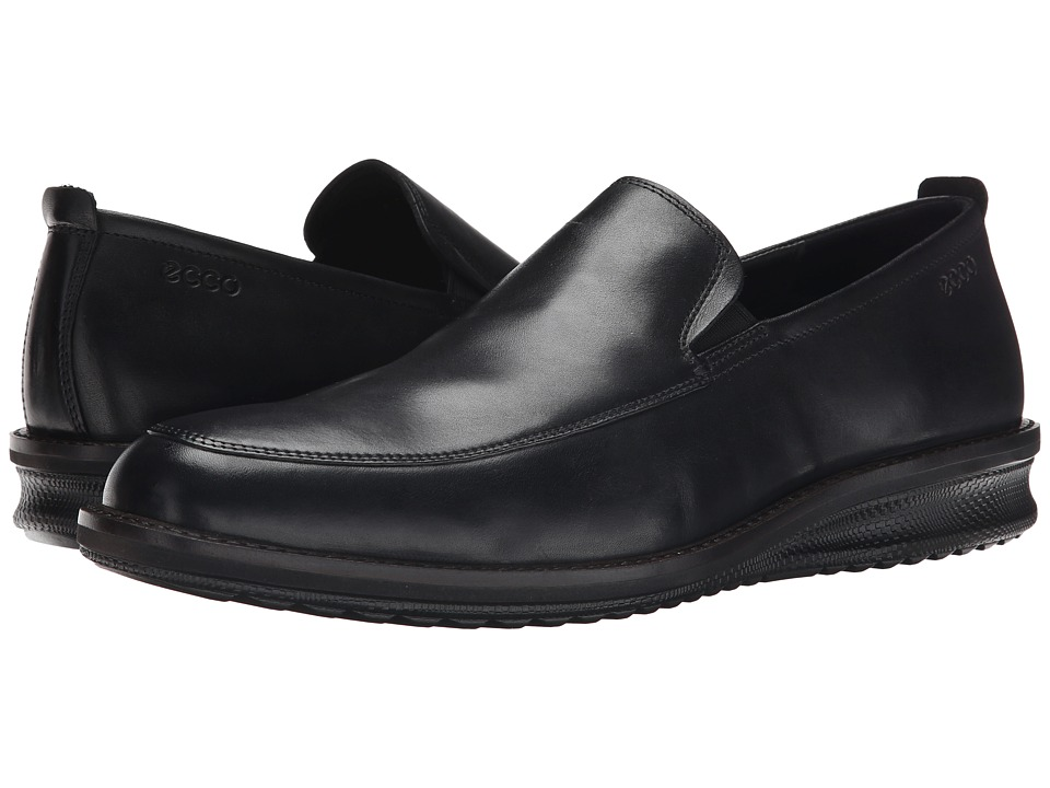 ECCO - Contoured Slip-On (Black) Men