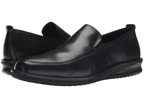 ECCO - Contoured Slip-On (Black) Men's Slip on Shoes