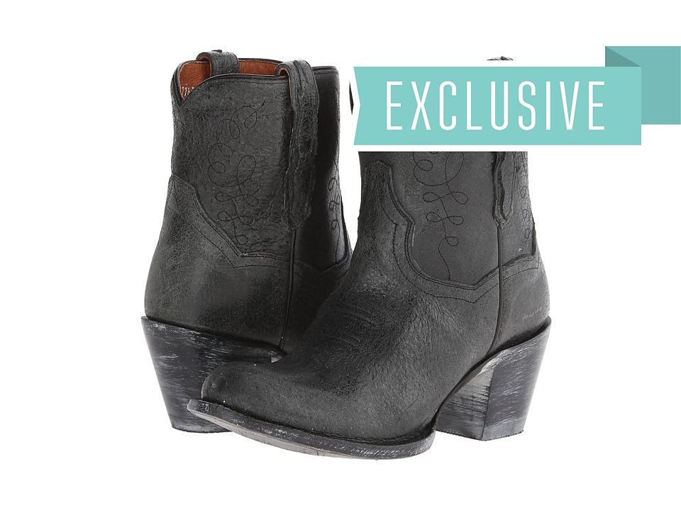 Dan Post - Krackle (Black) Cowboy Boots