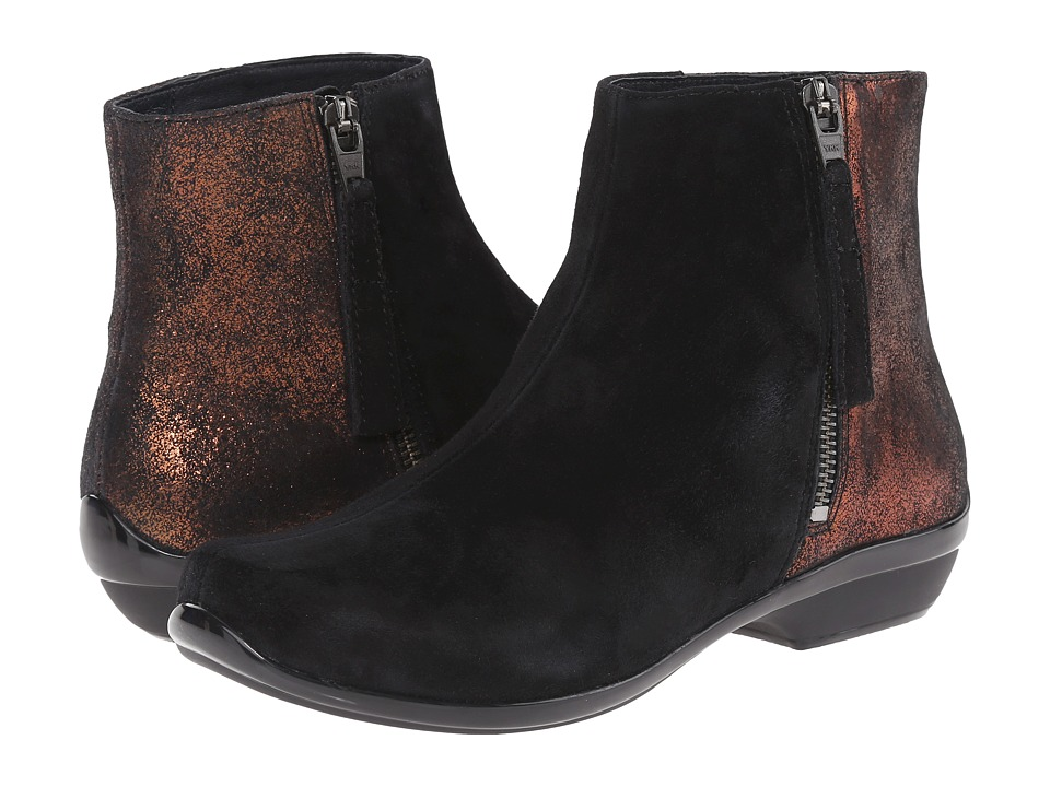 Dansko - Otis (Black Kid Suede) Women's Dress Lace-up Boots