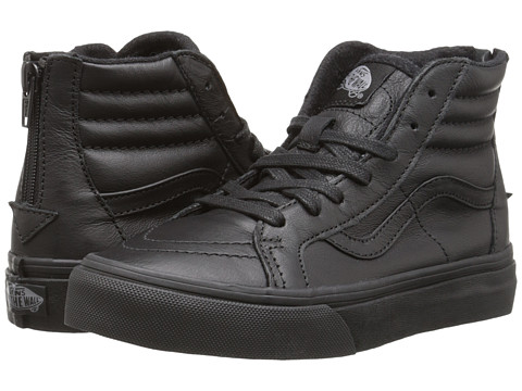 Vans Kids - SK8 Hi Zip (Little Kid/Big Kid) ((MTE) Black/Leather) Boys Shoes