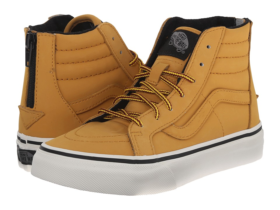 Vans Kids - SK8 Hi Zip (Little Kid/Big Kid) ((MTE) Honey/Leather) Boys Shoes