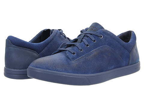 UGG - Bueller (New Navy Leather/Suede) Men's Lace up casual Shoes