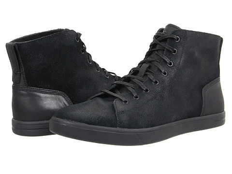 UGG - Steiner (Black Leather/Suede) Men's Lace up casual Shoes