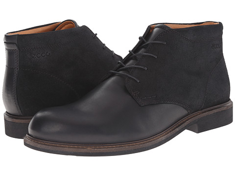 ECCO - Findlay Chukka Boot (Black/Black) Men's Lace-up Boots