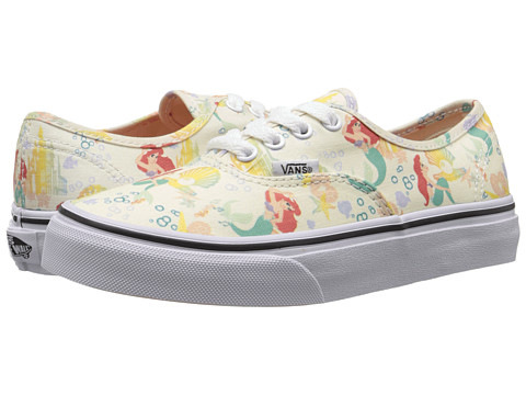 Vans Kids - Disney Authentic (Little Kid/Big Kid) ((Disney) Ariel/White) Girls Shoes
