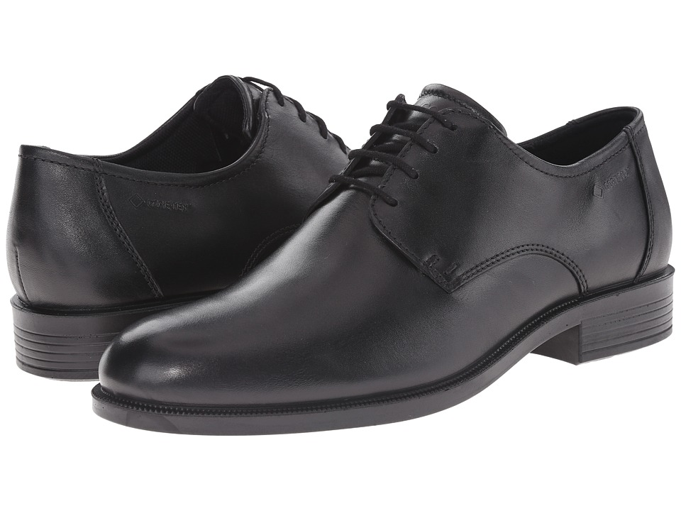 ECCO - Harold GTX Tie (Black) Men's Shoes