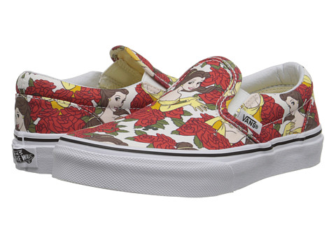 Vans Kids - Disney Classic Slip-On (Little Kid/Big Kid) ((Disney) Belle/True White) Girls Shoes