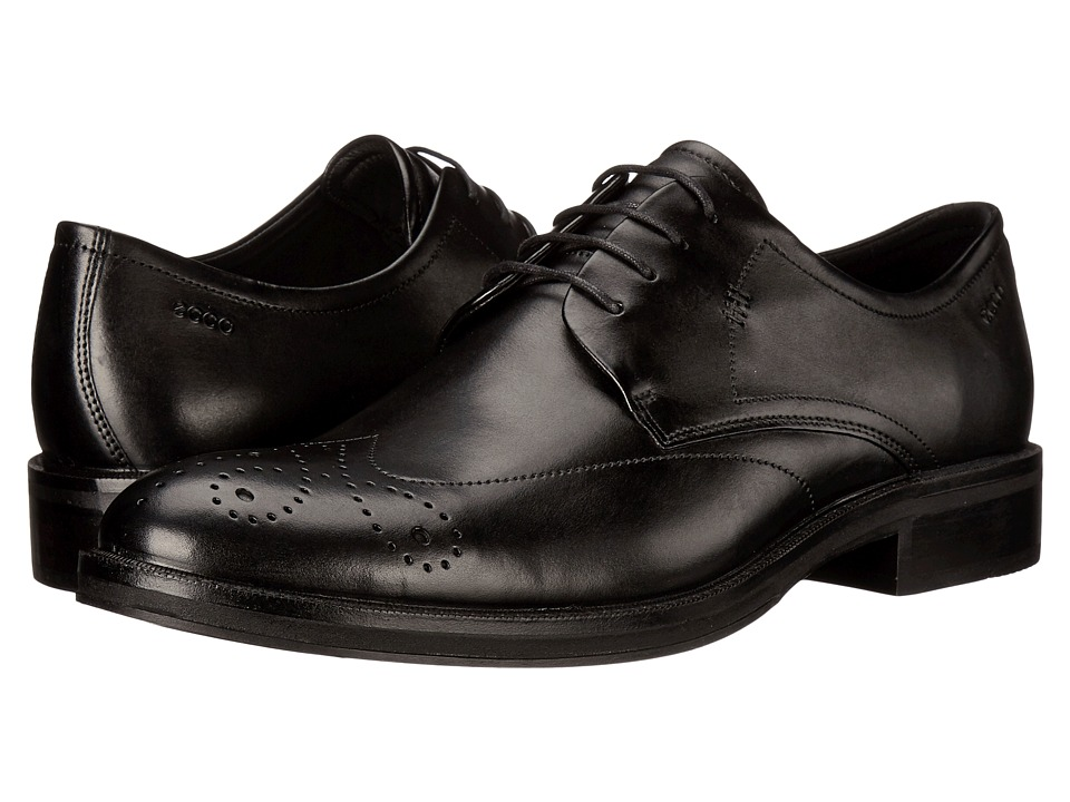 ECCO - Henley Tie (Black) Men's Shoes