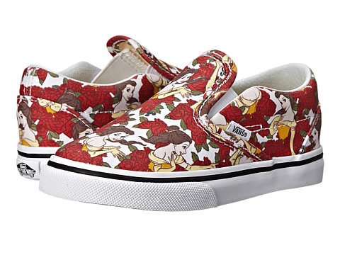 Vans Kids - Disney Classic Slip-On (Toddler) ((Disney) Belle/True White) Girls Shoes