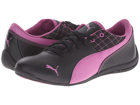 Puma Kids - Drift Cat 6 L Jr (Little Kid/Big Kid) (Black/Meadow Mauve) Girls Shoes