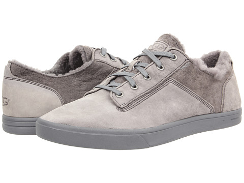UGG - Bueller Washed Carpa (Grey Twinface/Leather) Men's Lace up casual Shoes
