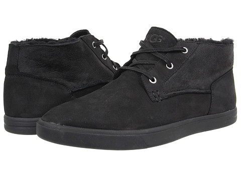 UGG - Kramer Washed Capra (Black Twinface/Leather) Men's Lace up casual Shoes