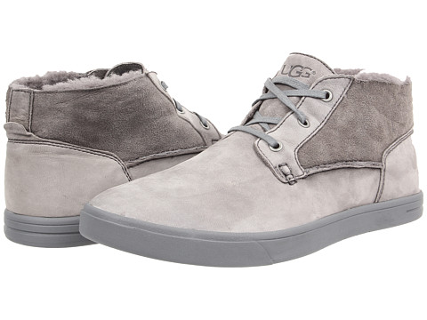 UGG - Kramer Washed Capra (Grey Twinface/Leather) Men