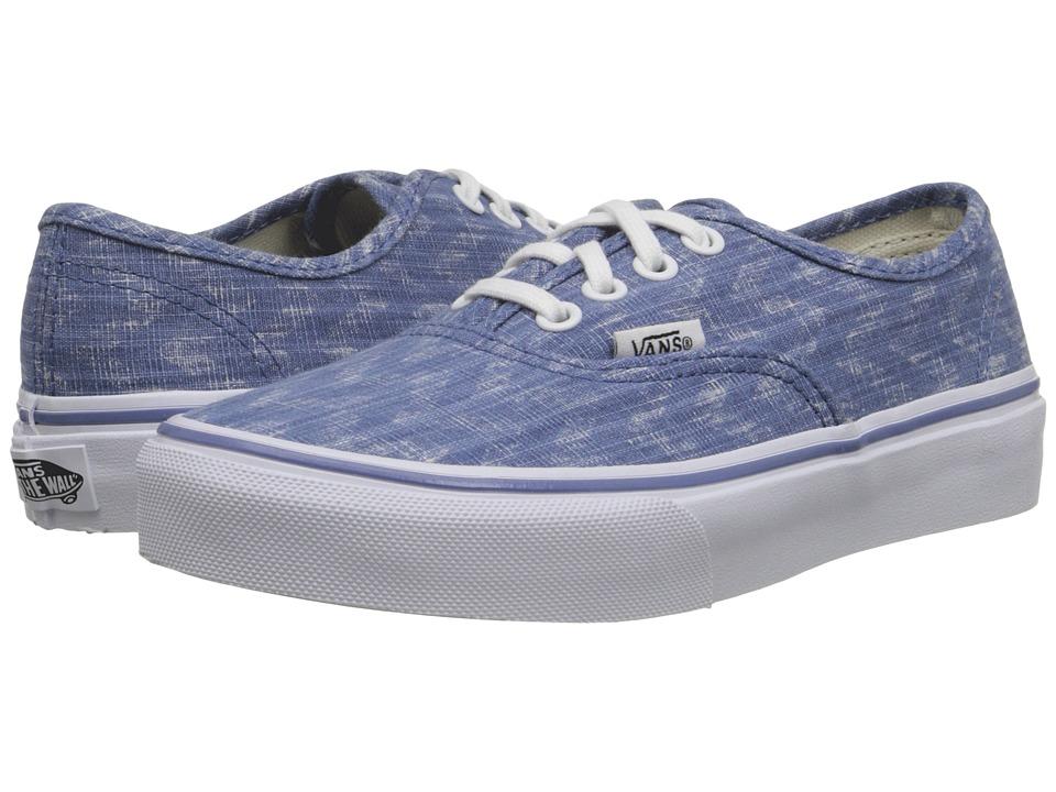 Vans Kids - Authentic (Little Kid/Big Kid) ((Denim Chevron) Blue/True White) Girls Shoes