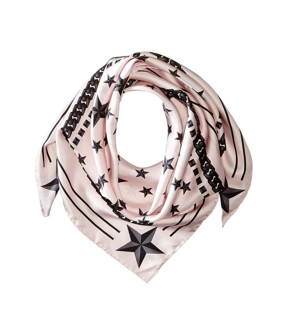 Givenchy - Stars Silk Twill Scarf (Baby Pink/Black) Scarves