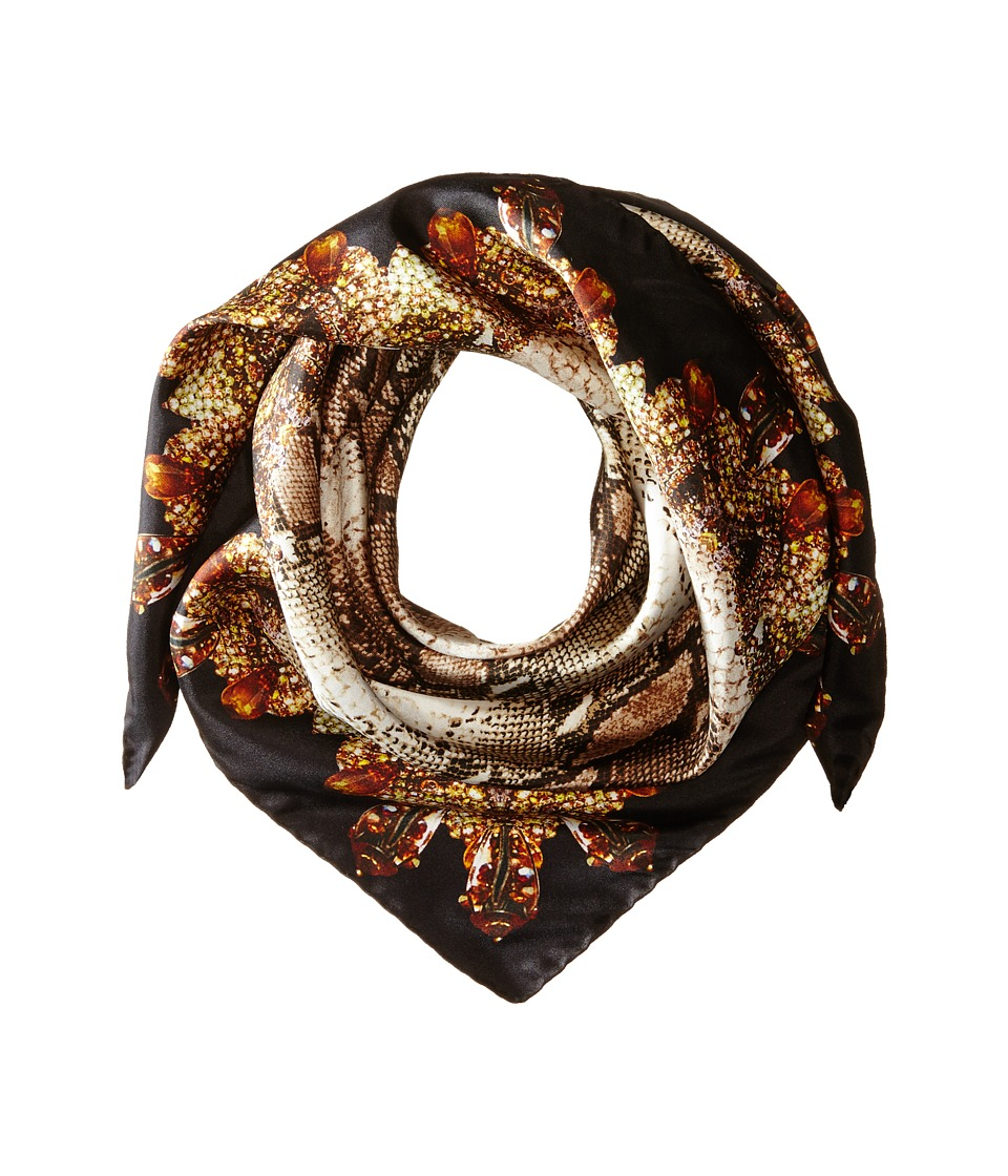 Givenchy - Python Silk Twill Scarf (Black) Scarves