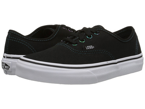 Vans Kids - Authentic (Little Kid/Big Kid) ((Iridescent Eyelets) Black/Multi) Girls Shoes