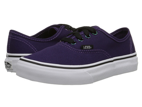 Vans Kids - Authentic (Little Kid/Big Kid) ((Iridescent Eyelets) Blackberry/True White) Girls Shoes