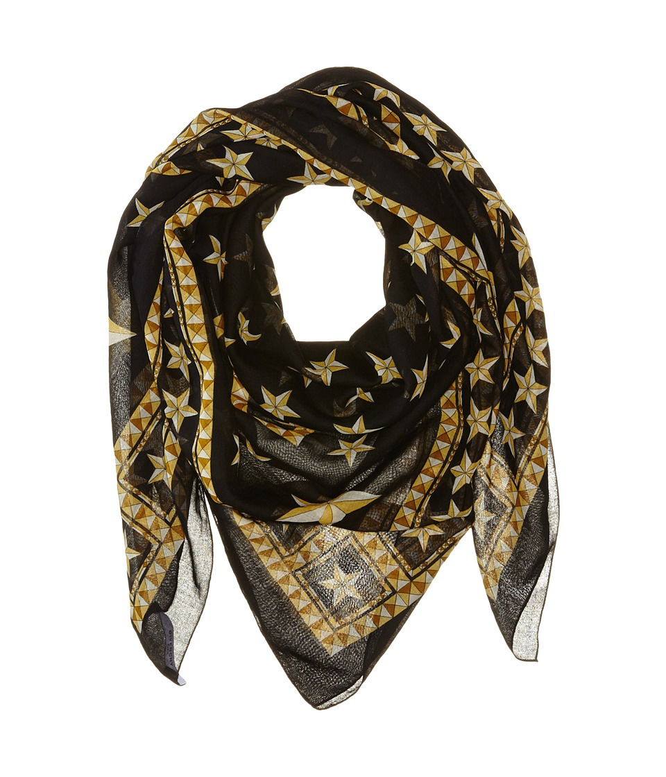Givenchy - Stars Cotton Scarf (Black) Scarves