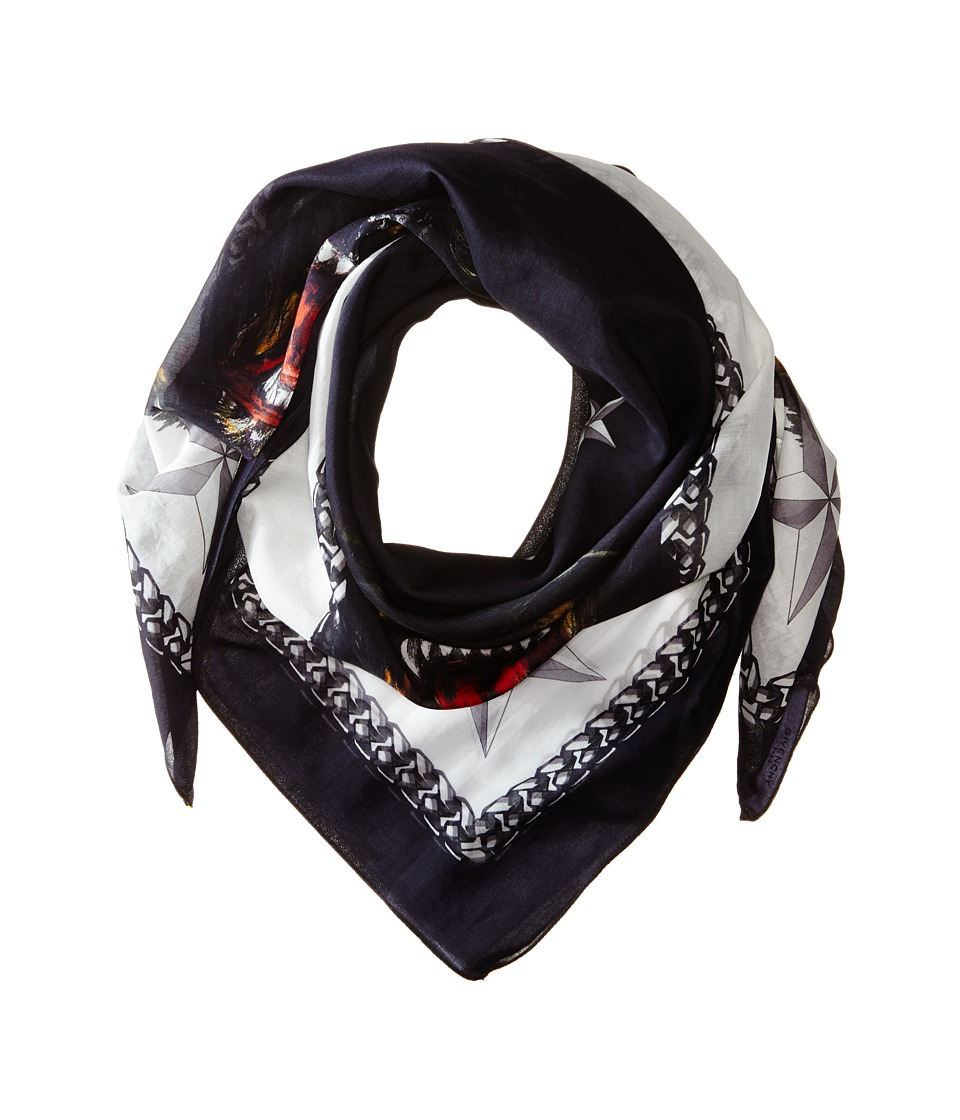 Givenchy - Rottweiler Cotton Silk Scarf (Black/White) Scarves
