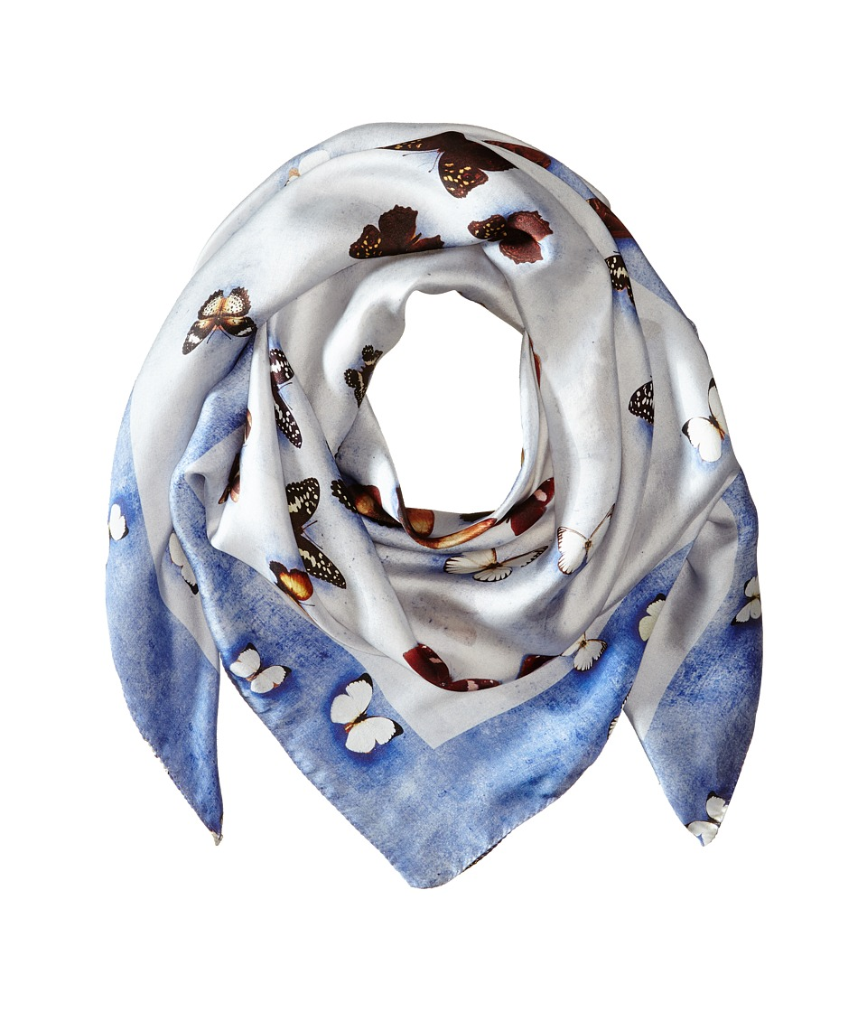 Givenchy - Butterflies Silk Satin Scarf (Baby Blue) Scarves