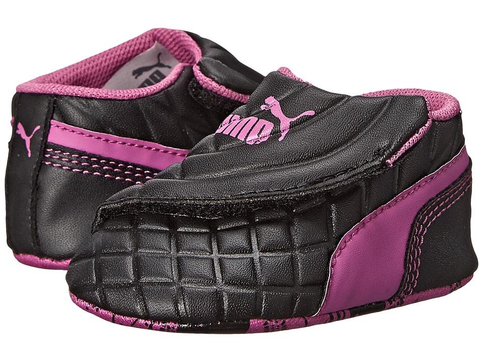 Puma Kids - Drift Cat 6 LW Crib (Infant/Toddler) (Black/Meadow Mauve) Girls Shoes