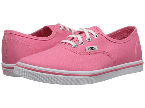 Vans Kids - Authentic Lo Pro (Little Kid/Big Kid) (Strawberry Pink/True White) Girls Shoes