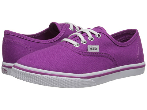 Vans Kids - Authentic Lo Pro (Little Kid/Big Kid) (Deep Orchid/True White) Girls Shoes