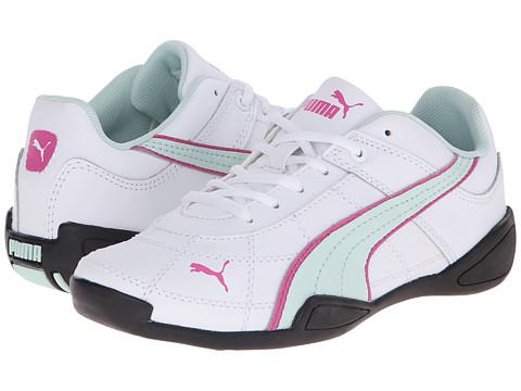 Puma Kids - Tune Cat B 2 (Little Kid/Big Kid) (White/Fair Aqua/Carmine Rose) Girls Shoes