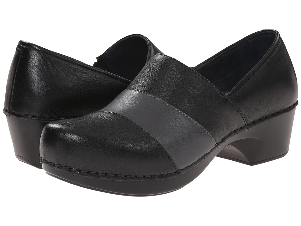 Dansko - Tenley (Black/Grey Nappa) Women's Clog Shoes