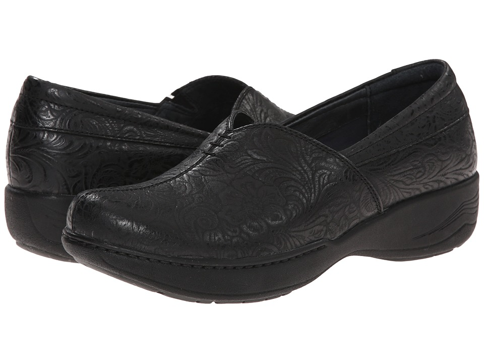 Dansko - Abigail (Black Floral Emboss) Women's Shoes