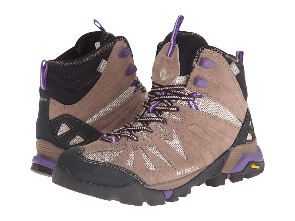 Merrell - Capra Mid Waterproof (Taupe) Women's Hiking Boots
