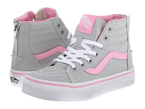 Vans Kids - SK8 Hi Zip (Little Kid/Big Kid) ((Pop) High-Rise/Prism Pink) Girls Shoes