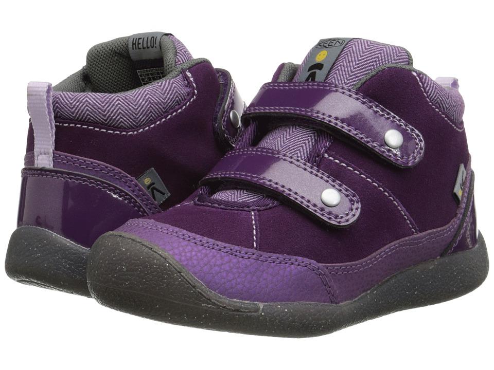 Keen Kids - Tris High Top (Toddler/Little Kid) (Wineberry/Gargoyle) Girls Shoes