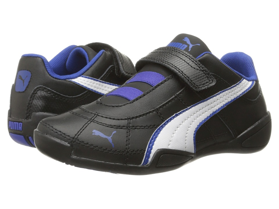 Puma Kids - Tune Cat B 2 V (Toddler/Little Kid/Big Kid) (Black/White/Surf The Web) Boy